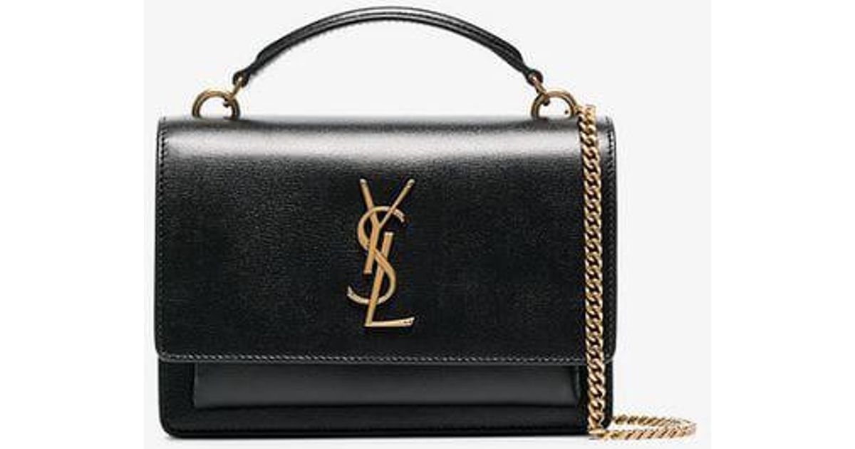Saint Laurent Cassandra Chain Bag in Black - Lyst 518aacf933838