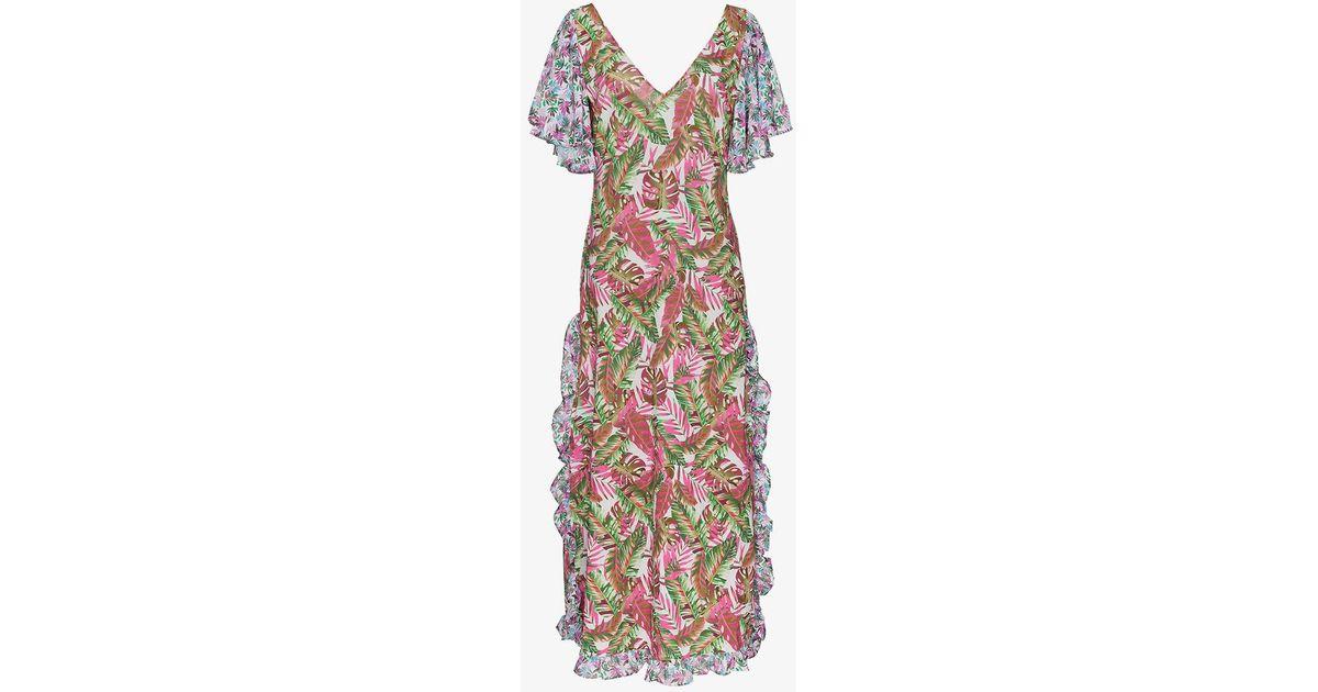 leandra floral maxi dress - Pink & Purple All Things Mochi 35w2zL