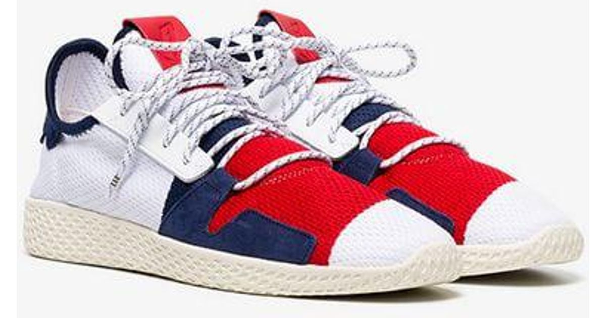 b7bcf030b Lyst - adidas By Pharrell Williams Tennis Hu Bbc Trainers in Red for Men