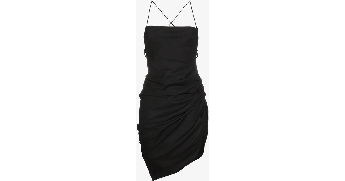Lyst Jacquemus Strappy Mini Dress With Open Back In Black
