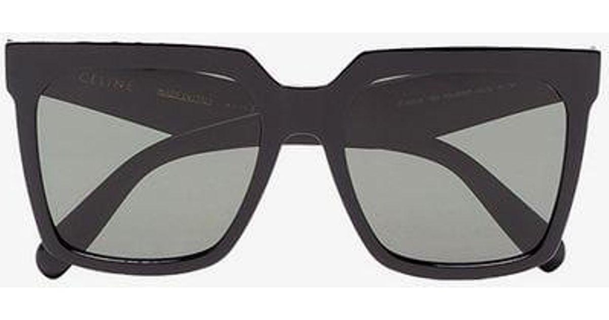 061b7ab0f5b Céline Celine Eyewear Wayfarer-style Sunglasses in Black - Lyst