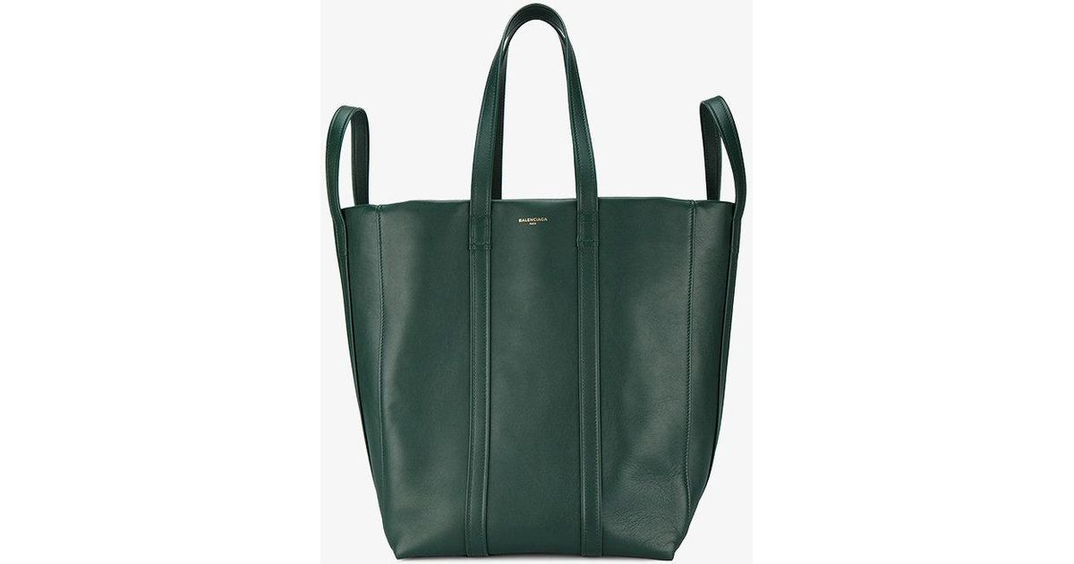 fb20cb08fb09 Lyst - Balenciaga Laundry Cabas M Tote Bag in Green