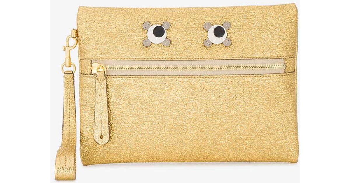 Eyes zip purse - Metallic Anya Hindmarch 4tzLY