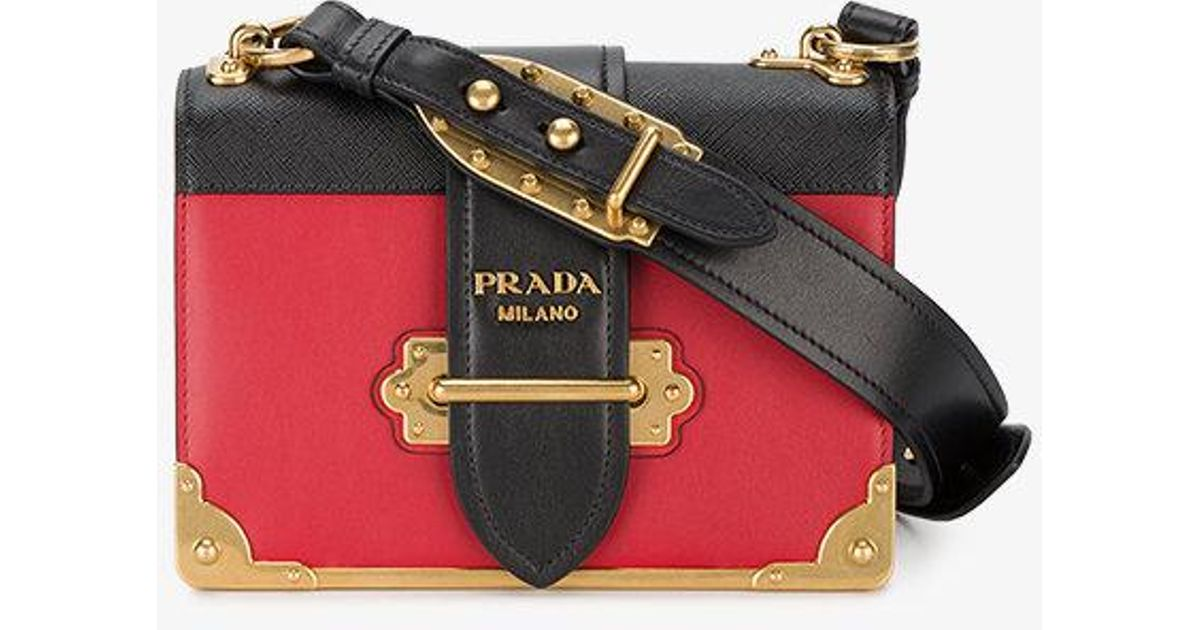 54948b7ea482 ... low cost lyst prada cahier box bag in black 567b7 5eb28