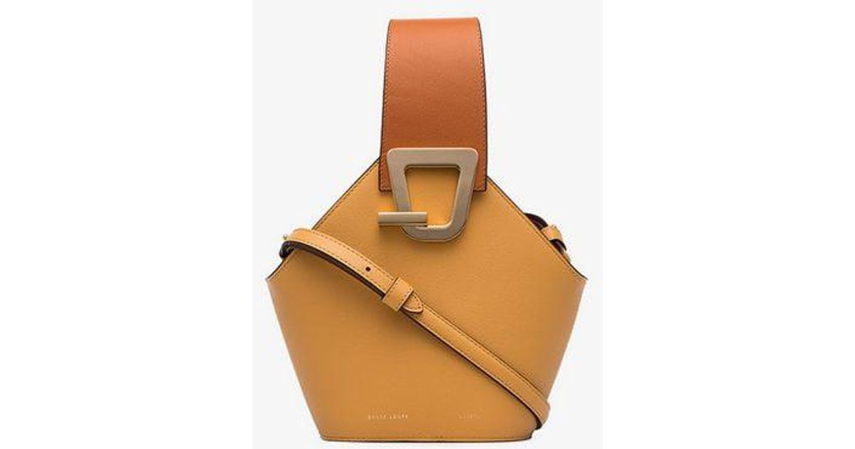 01abf38ebac5 Danse Lente Mini Johnny Two-tone Leather Bucket Bag in Brown - Lyst