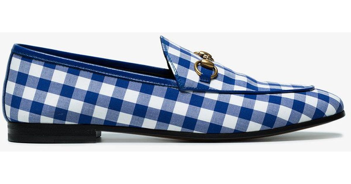 Jordaan gingham loafers Gucci