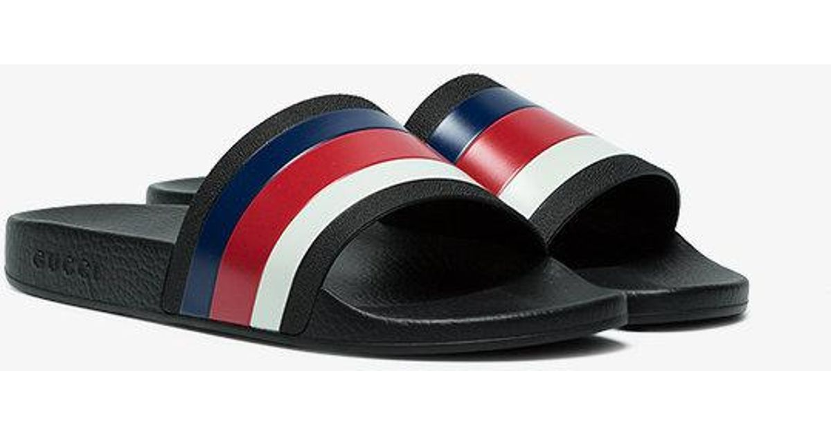 9dff6d7c59d8a3 Lyst - Gucci Web Slide Sandals in Black for Men