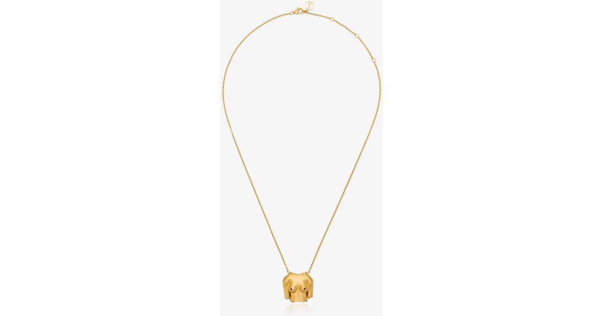 French For Goodnight pendant necklace - Metallic Anissa Kermiche oARuKa3aQ