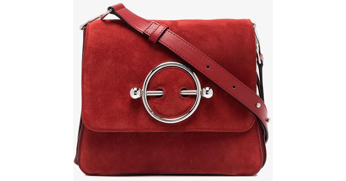 red Disc suede and leather cross-body bag J.W.Anderson MpQWQvHI