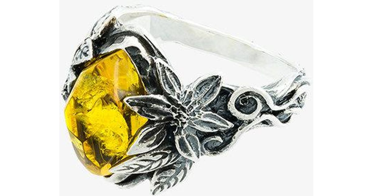 Lyly Erlandsson Yellow Aria silver ring - Yellow & Orange trGvUsy1jB