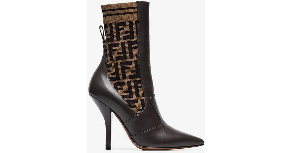 bdc2b5a8d28a Fendi Boots   Booties Marrone in Brown - Lyst