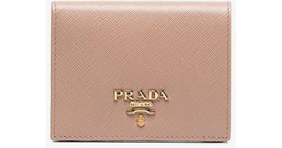 c4a2c9005b5 ... coupon code lyst prada saffiano foldover wallet in pink 4b28c 998d3