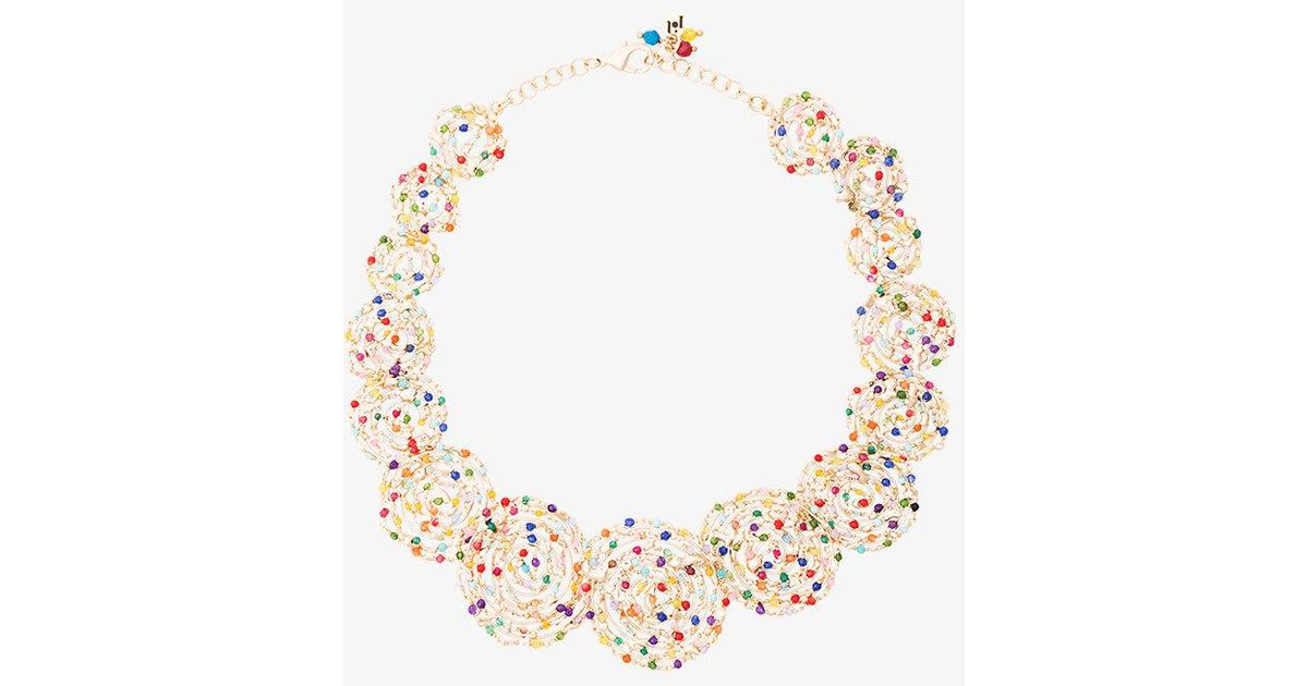 Pizzo disc necklace with pearls - Metallic Rosantica lvRIWGCUr