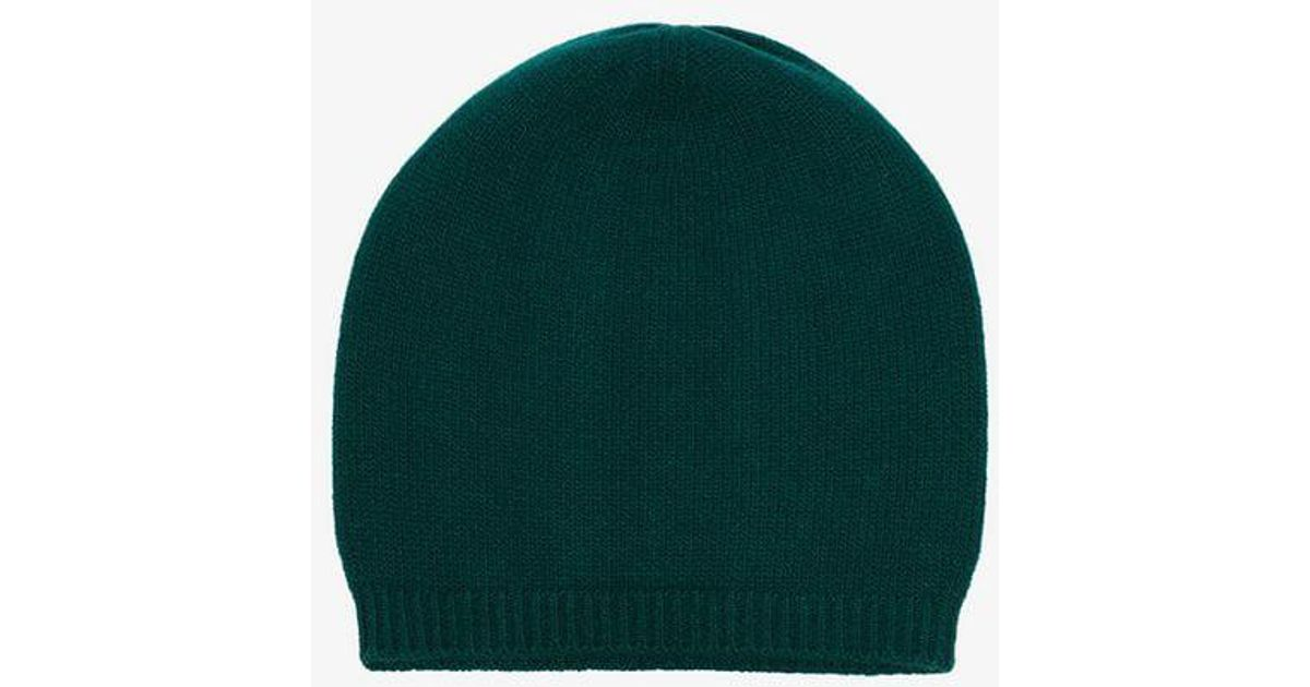 3df6ccdd94b31 Gucci Green Web Knitted Wool Beanie Hat in Green for Men - Lyst