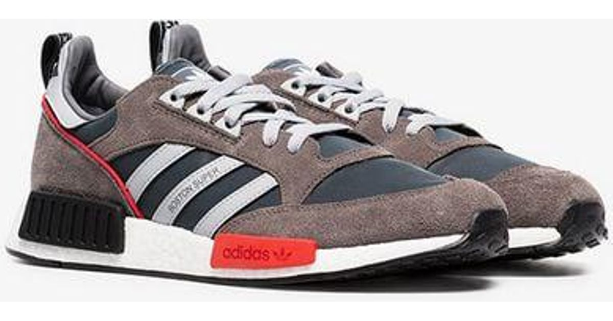 a41c014cc67 adidas Never Made Multicoloured Boston Super R1 Suede Sneakers in Gray for  Men - Lyst