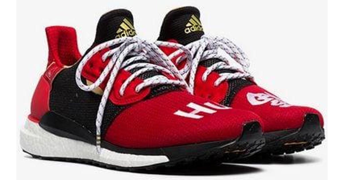 1cc0035e25a Lyst - Adidas Red And Black X Pharrell Williams Solar Hu Glide St Sneakers  in Red for Men