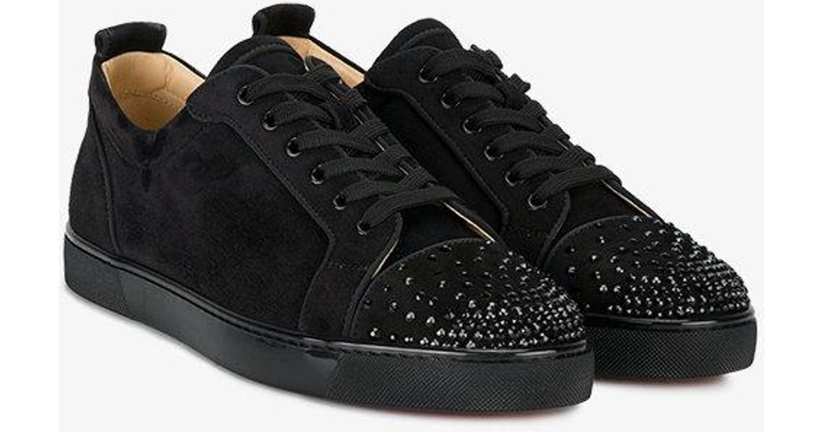 bbea16abfeb6 Lyst - Christian Louboutin Black Leather Louis Junior Spike Sneakers in  Black for Men