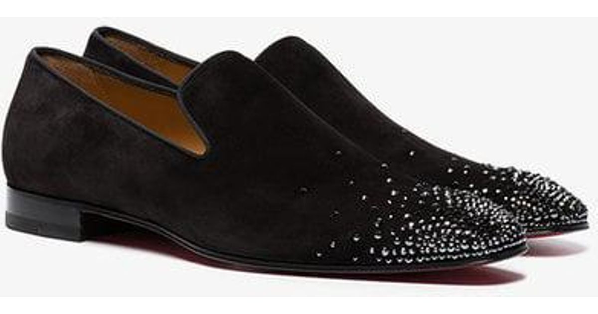 584c4f8f0747 Lyst - Christian Louboutin Black Dandelion Degra Suede Smoking Slippers in  Black for Men