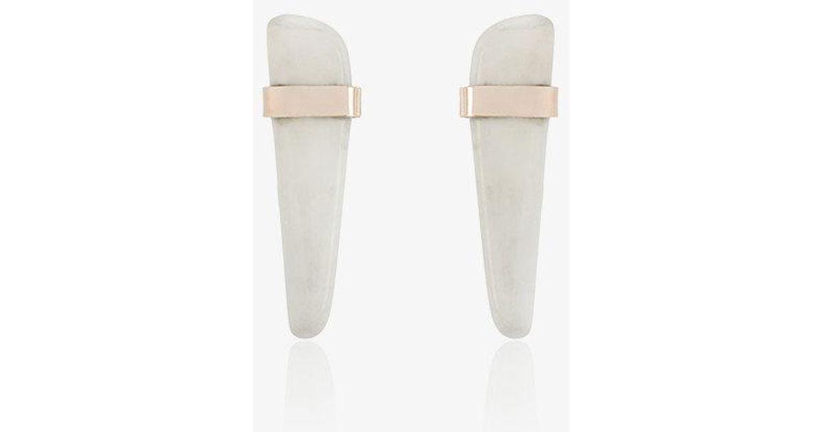 Melissa Joy Manning howlite stone earrings e4BfH