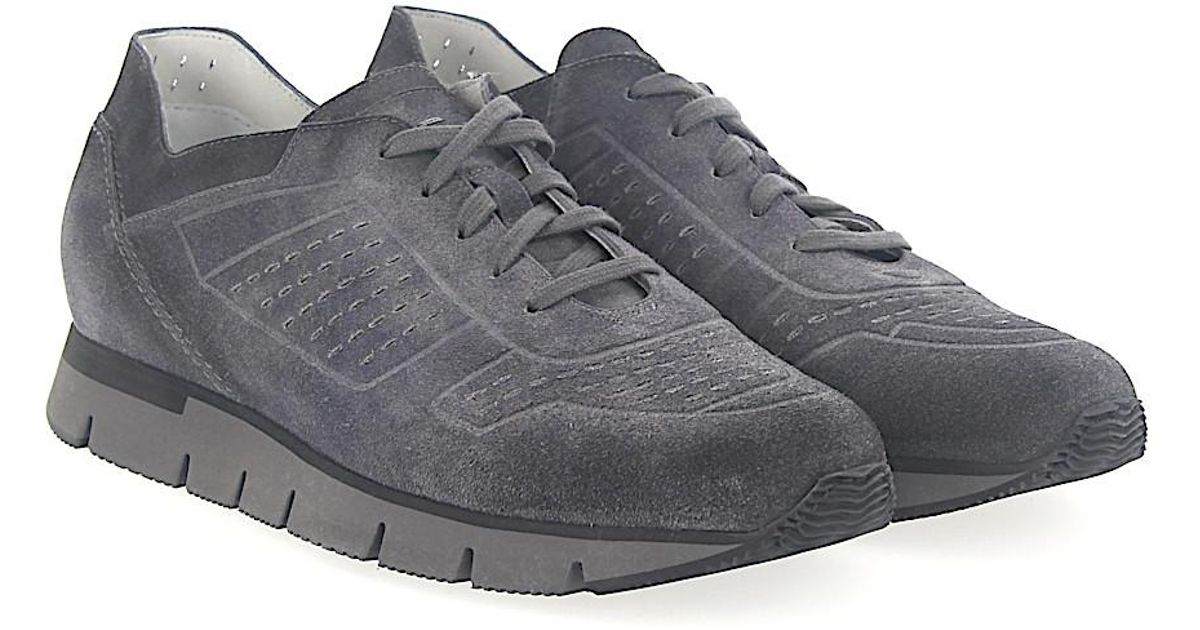 Sneaker 20754 suede Hole pattern grey Santoni Buy Cheap With Credit Card hGd4lBJT2