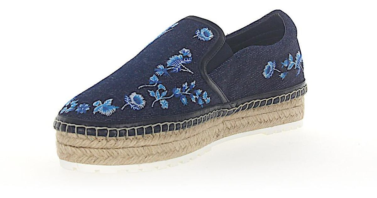 Espadrilles PRAIRIE Denim blue flower pattern Dior tNQ1H4Iq