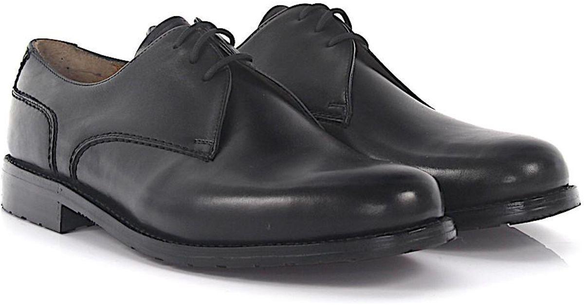 Derby 9698 ARON leather black soft hand sewn Heinrich Dinkelacker xVwZql