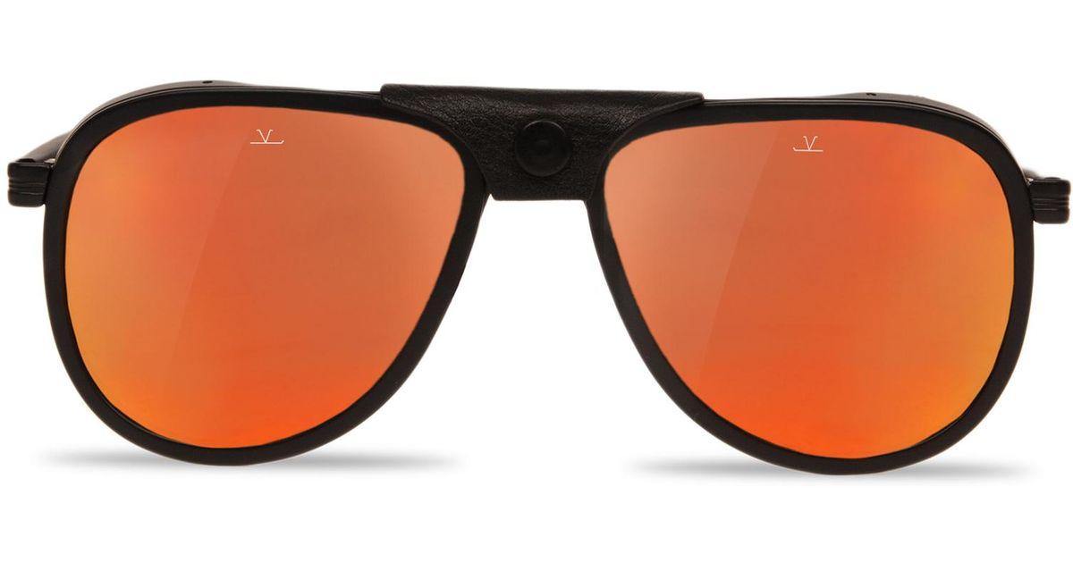Sunglasses Aviator GLACIER1957 steel acetate black matte red Vuarnet 4W6fnDq76a