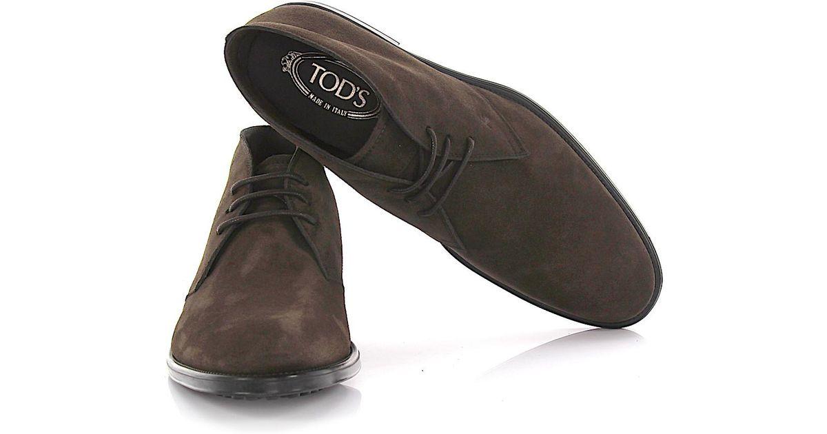 tod 39 s tods desert boots suede brown in brown for men lyst. Black Bedroom Furniture Sets. Home Design Ideas