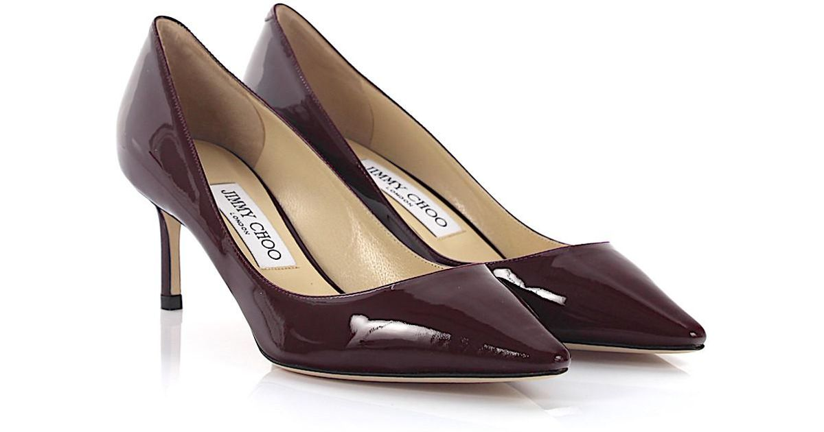 Jimmy choo Pumps Romy 60 lack leather claret Pictures For Sale kXEXUI