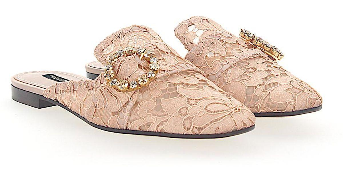 Dolce & Gabbana Slipper AL198 Taormina-Lace buckle ornament fewgqE1fi