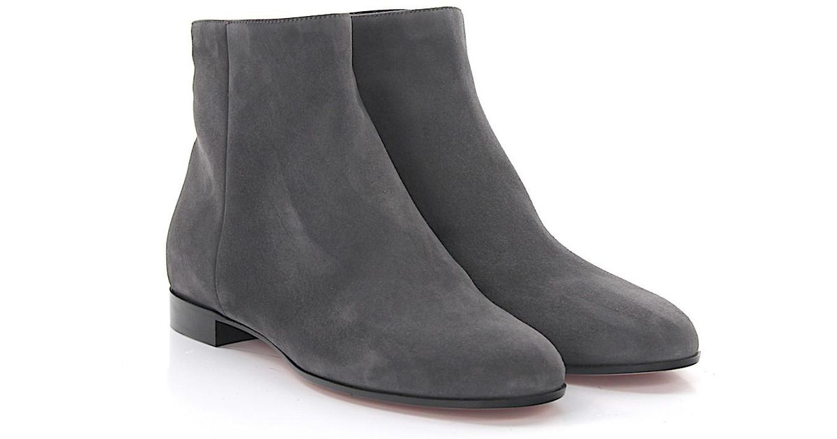 Gianvito Rossi Ankle Boots Milton Flat Bootie suede CBCf63Q