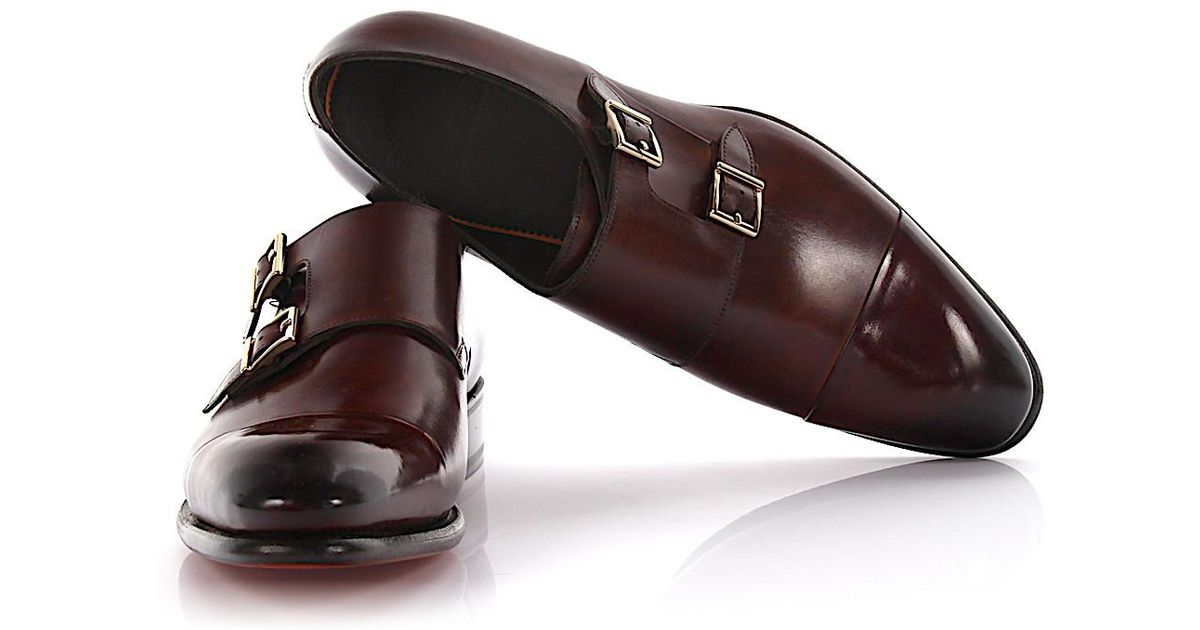 santoni Double-Monk 11652 leather Goodyear bin3LO0xQ
