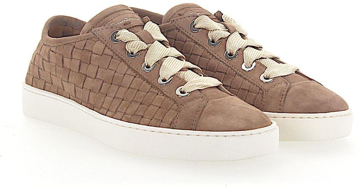 santoni Sneaker 60336 suede Braiding