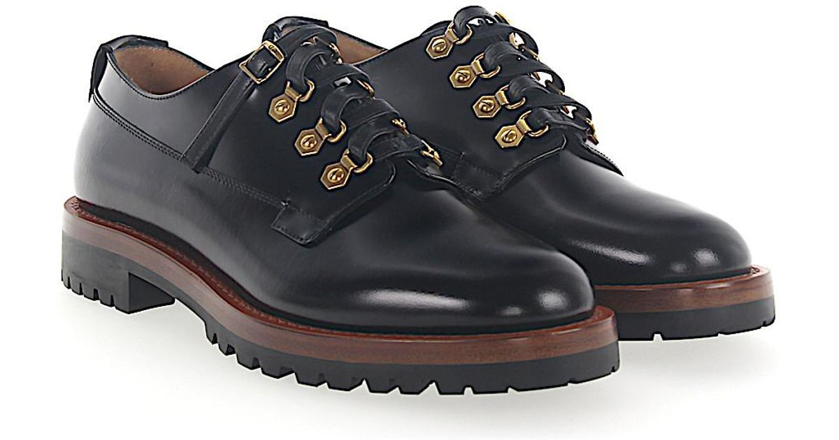 Brogue WILDIOR leather black logo gold Dior eNuzfHkp
