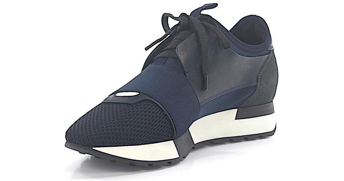 BalenciagaSneakers RACE RUNNER leather fabric mesh OqnAEHi