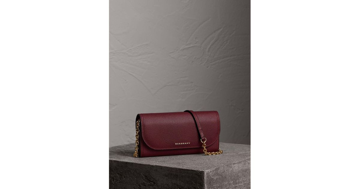 Lyst - Burberry Leather Wallet With Chain 95fc6b03ce6fd