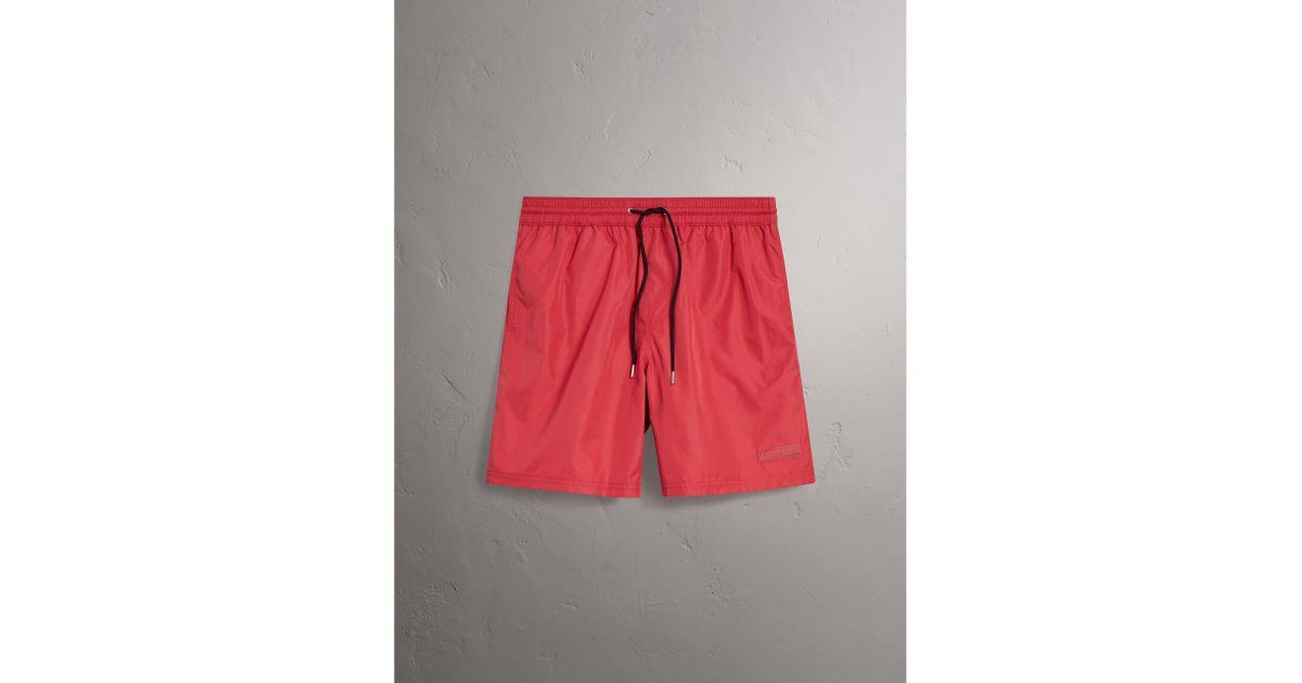 Drawcord Swim Shorts - Red Burberry Extremely Drop Shipping Exclusive Newest Cheap Collections VZR9q