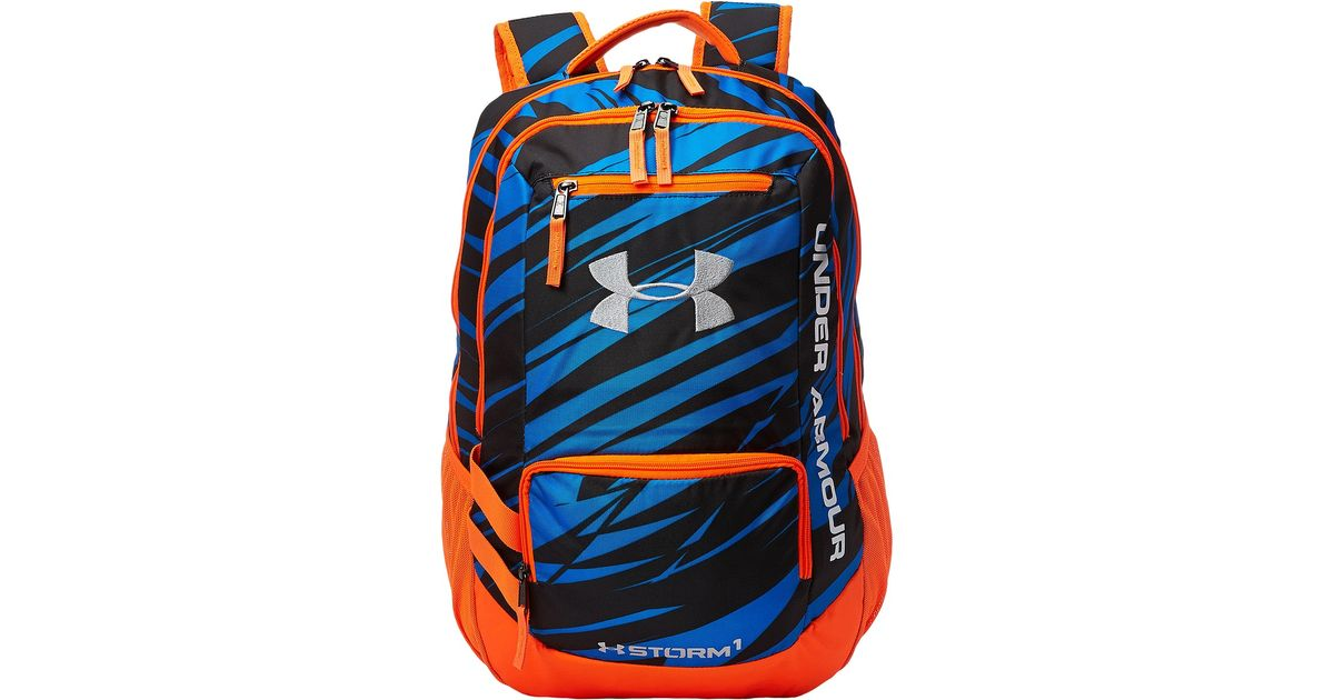 Lyst   Under Armour Ua Hustle Backpack Ii In Orange For Men