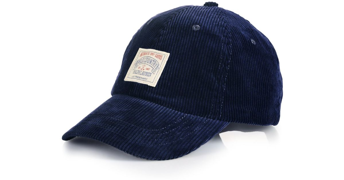 Lyst - Polo Ralph Lauren Corduroy Sports Cap in Blue for Men 427ca9e542a