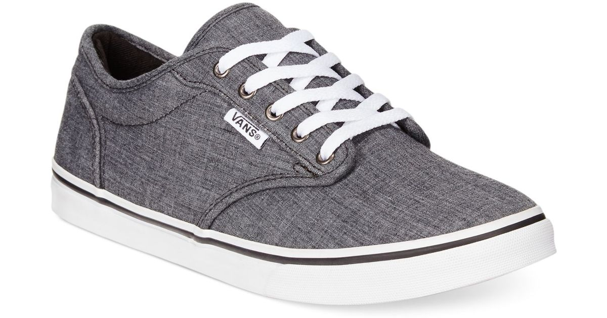 Lyst - Vans Women s Atwood Low Lace-up Sneakers in Gray f020397a2df1