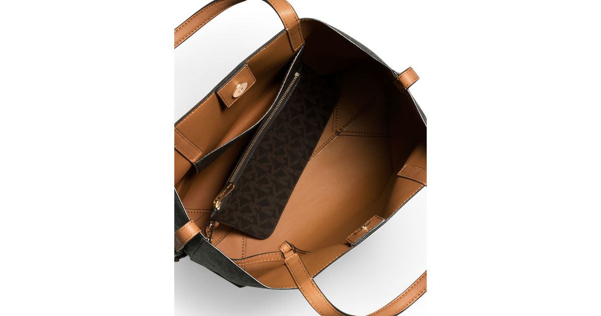 015b7df33449 MICHAEL Michael Kors Hayley Large Convertible Tote Bag in Brown - Lyst