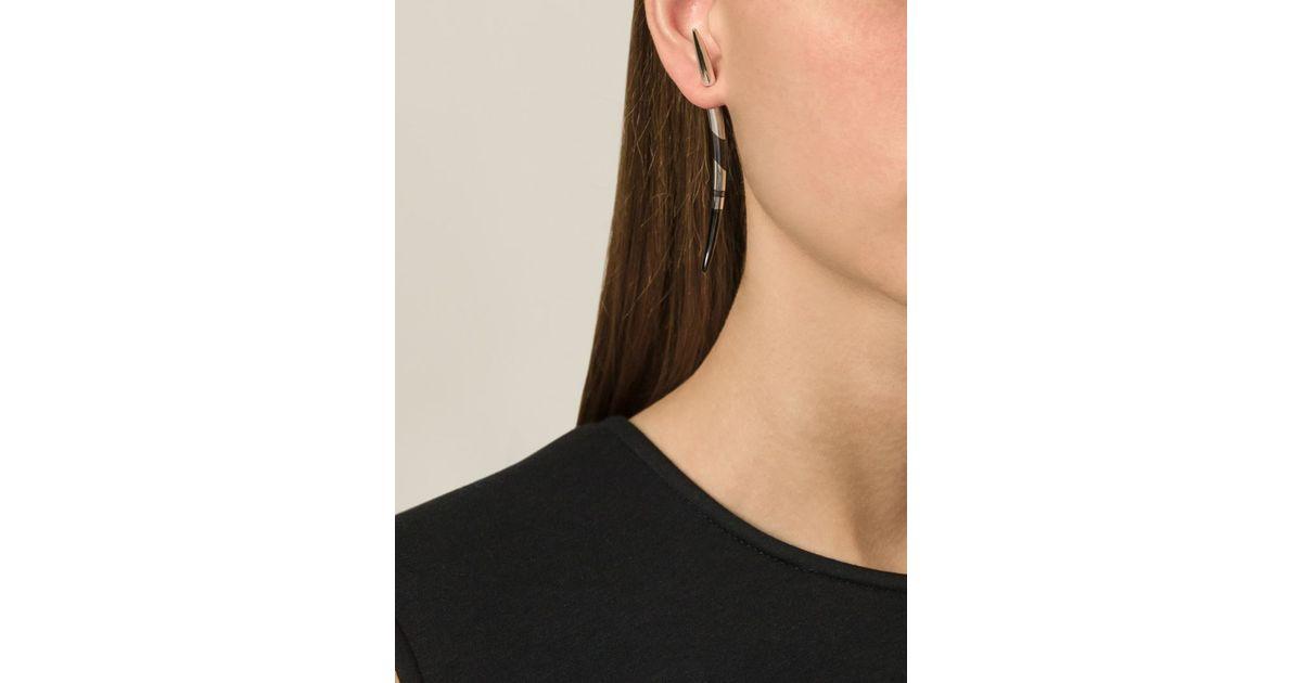 Shaun Leane Silver Quill Earrings wsAgf8Z