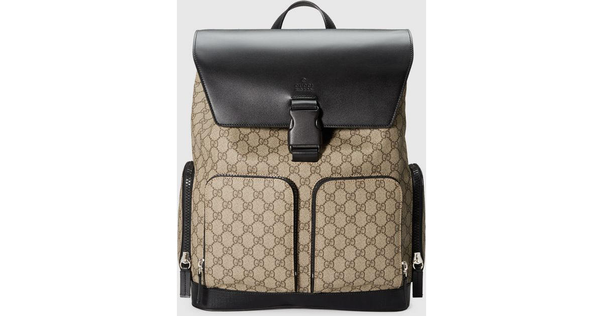 27f5b3275dbef0 Gucci Gg Supreme Backpack in Natural for Men - Lyst