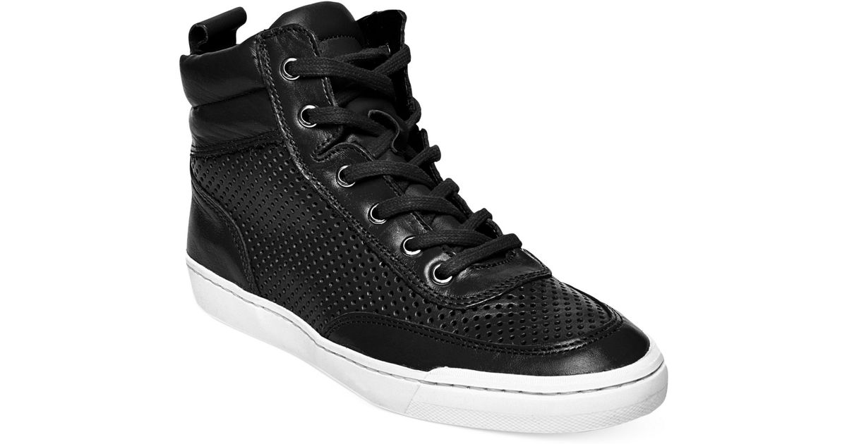 1f35202377f Lyst - Steve Madden Women s Mikeyy High Top Sneakers in Black