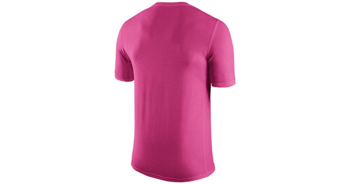 Lyst - Nike Men s Atlanta Falcons Breast Cancer Awareness Legend T-shirt in  Pink for Men 377586f39d87