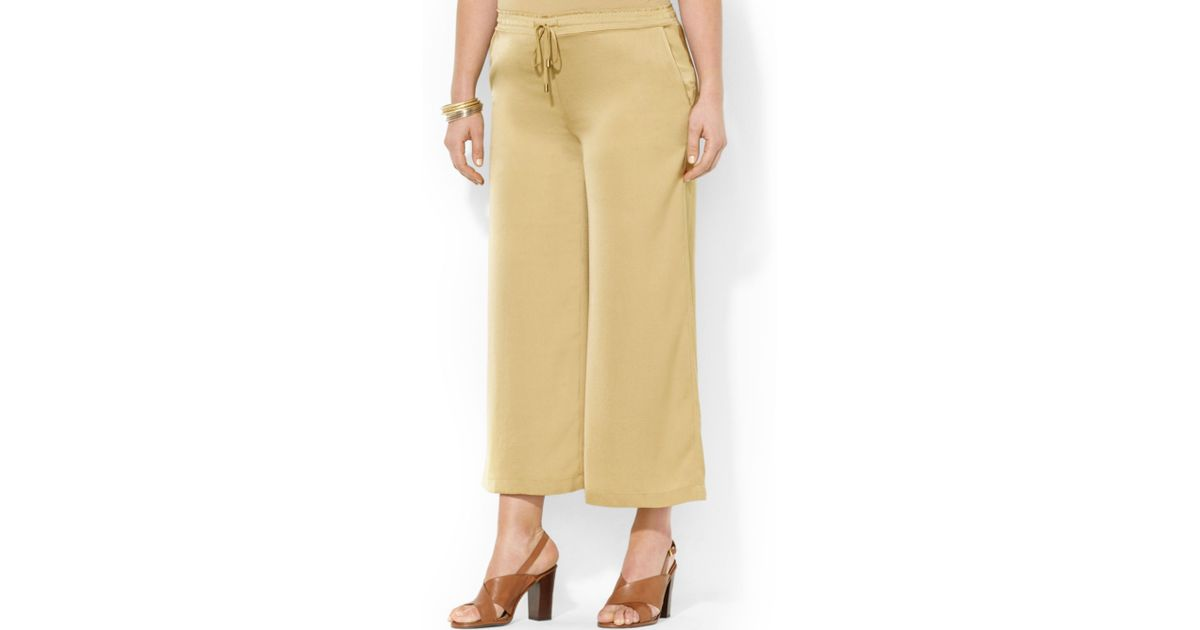 Lauren by ralph lauren Plus Size Cropped Wideleg Soft Pants in ...