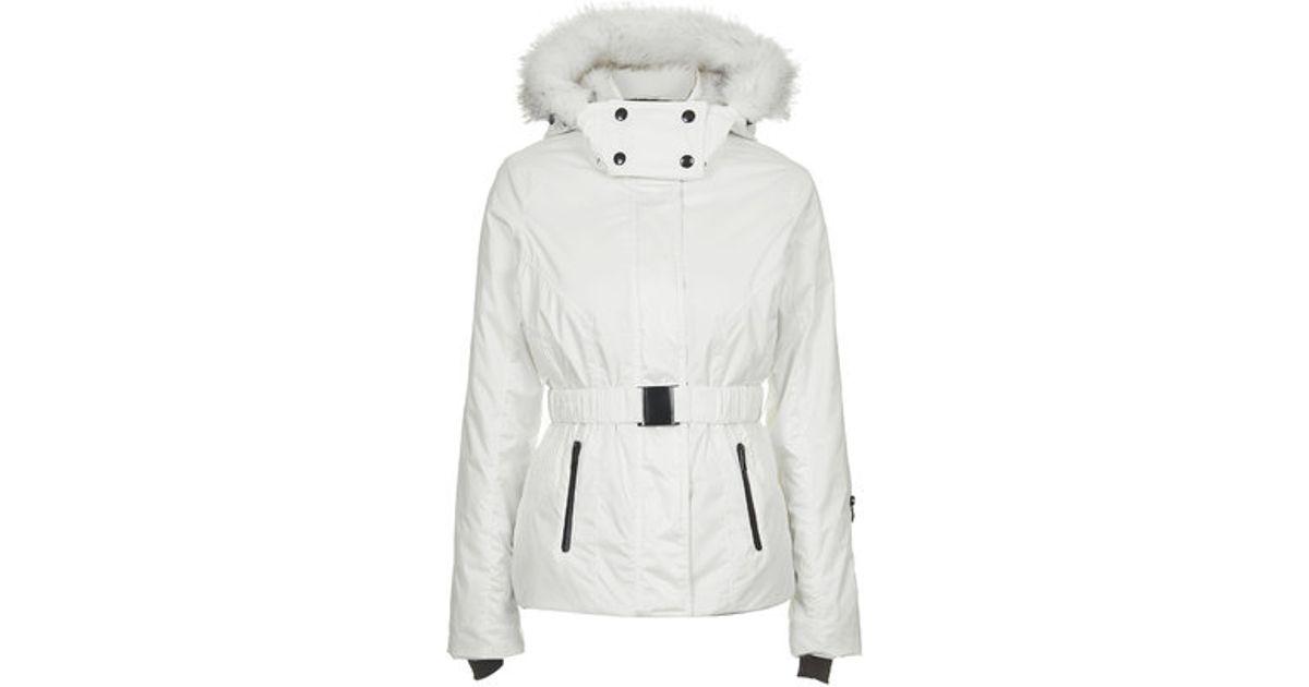 c9da98322d0 Lyst - TOPSHOP Sno Padded Ski Jacket in White