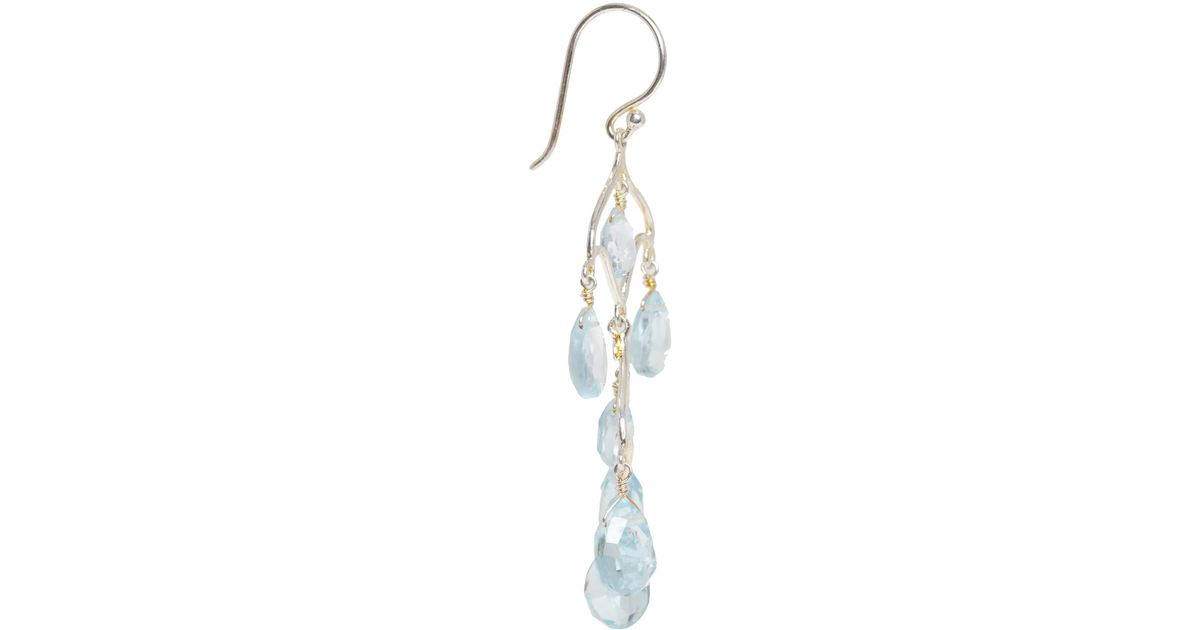 Lyst dinny hall silver blue topaz chandelier earrings in metallic aloadofball Image collections
