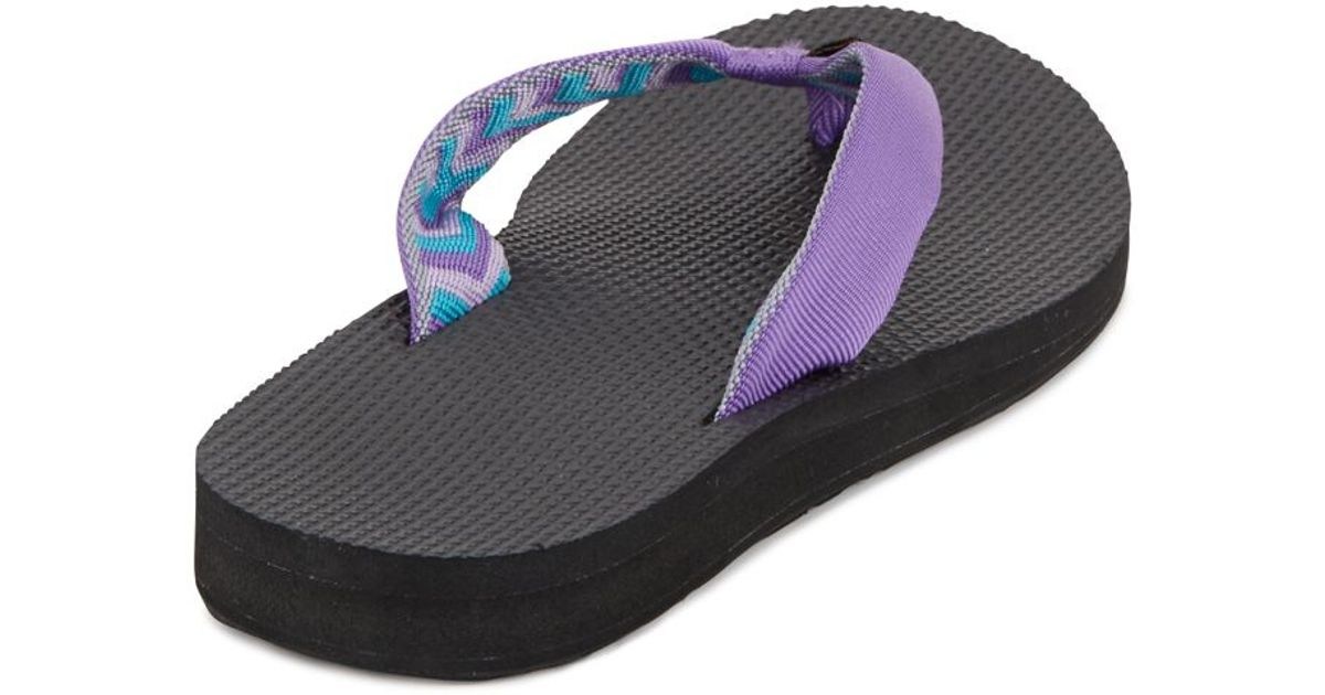 Teva Classic Flip Flops In Purple  Lyst-3491