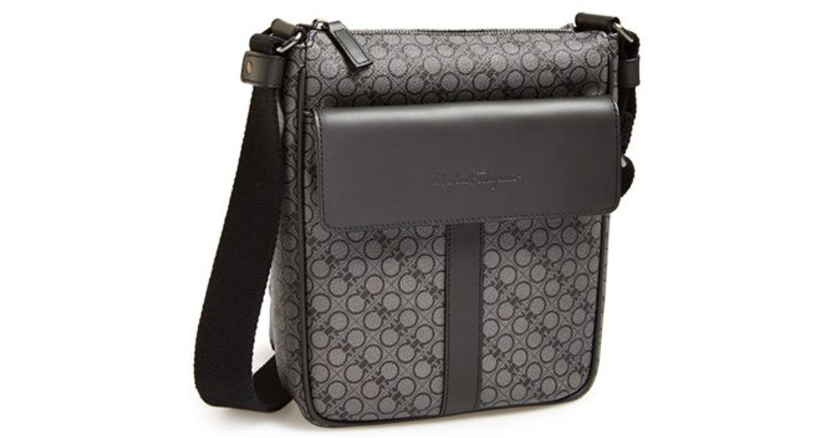 6551da3a4d Lyst - Ferragamo Gancini Crossbody Bag in Black for Men